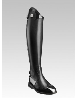 PUNCHED PATENT LEATHER TALL RIDING BOOTS MARILYN